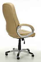 Офисное кресло ARTIX бежевое кожаное, фото 3