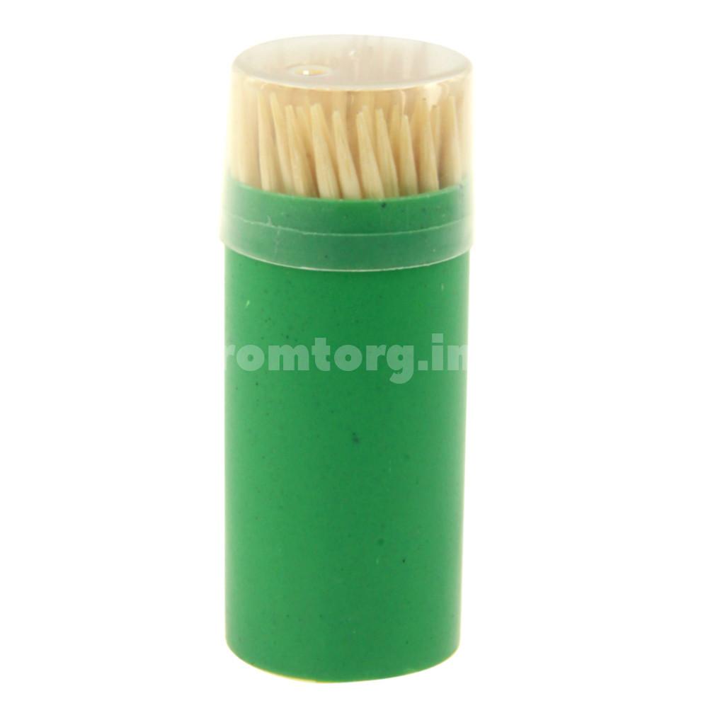 Зубочистки деревянные в упаковке 100 шт