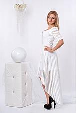 Вечернее эксклюзивное очень красивое платье из микро-дайвинга, фото 3