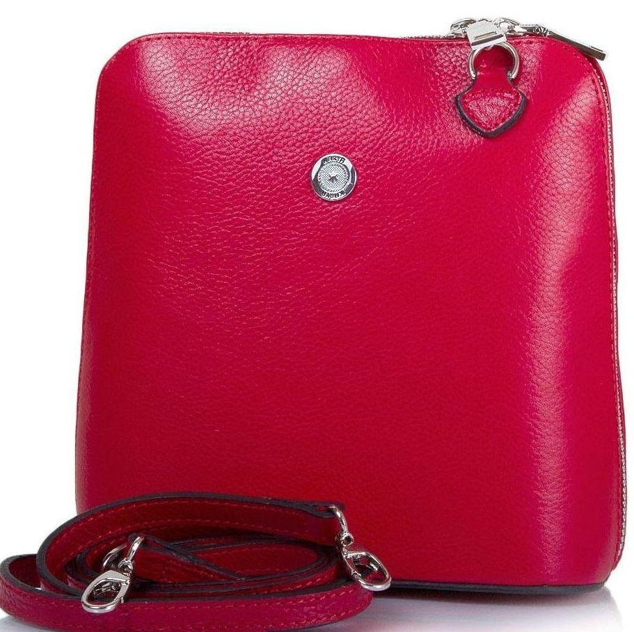 ba112520a768 Женская кожаная мини-сумка KARYA SHI0559-46 красная - SUPERSUMKA интернет  магазин в Киеве