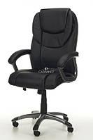 Офисное кресло EPILEUS черное кожаное