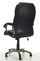 Офисное кресло EPILEUS черное кожаное, фото 3