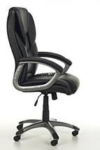 Офисное кресло EPILEUS черное кожаное, фото 2