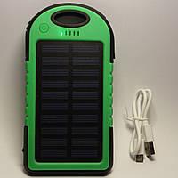Солнечный power bank ES500 на 8000 mAh, солнечный внешний аккумулятор (Solar power bank)