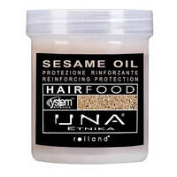 Маска для разглаживания волос с маслом кунжута 1000 мл, Rolland Una Hair Food Sesam Oil Hair Treatment Anti-Fr