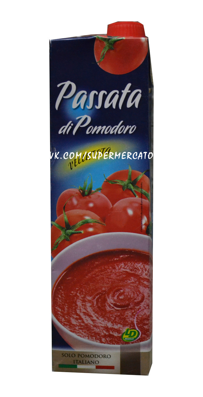 Томатная паста натуральная Passata di Pomodoro, 1 л.
