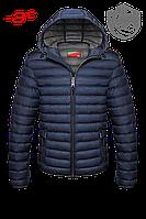 Темно-синий пуховик мужской зимний
