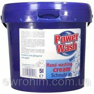 Специализированная паста для мытья рук Power Wash hand washing cream 5л