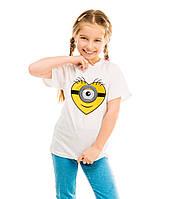 """Детская футболка """"Сердце миньон"""""""