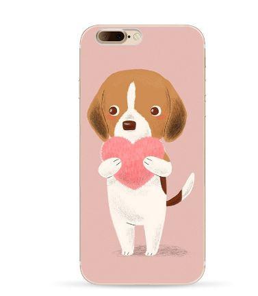 Оригинальный чехол панель накладка для Iphone 7 с картинкой Собачка