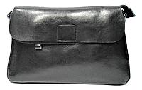 Симпатичная женская сумка из натуральной кожи черного цвета DSC-007969