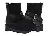 Черные замшевые ботинки Clarks