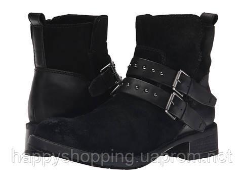Женские стильные черные замшевые ботинки демисезонные Clarks, фото 1