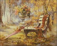 """Набор для вышивая - """"Уютная скамейка"""" с нитками ДМС"""