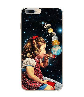 Силиконовый бампер с принтом для Iphone 7 Девочка