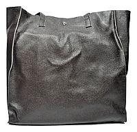 Объёмная женская сумка из натуральной кожи коричневого цвета DDW-500711