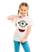 """Детская футболка """"Лицо миньон"""""""
