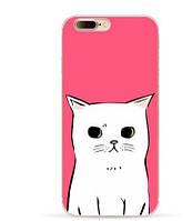 Чехол с картинкой (силикон) для Iphone 7 Белая кошка