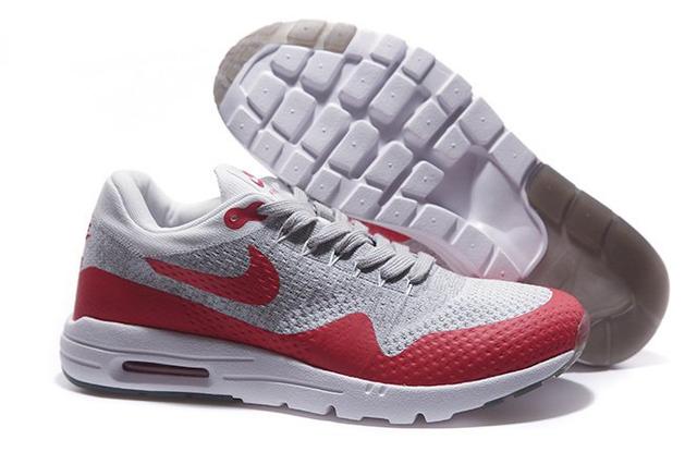 Кроссовки мужские  Nike Air Max 87 Ultra Flyknit (white/red) - 57Z  оригинал