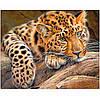 "Картина для рисования камнями Diamond painting ""Взгляд леопарда"""