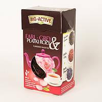 Чай черный листовой Big- Active Earl Grey  Platki rozy   с лепестками роз 80 г