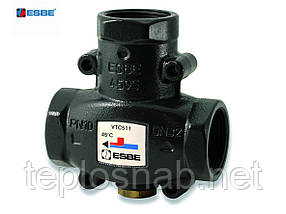 """Термостатический трёхходовой клапан ESBE VTC 511 1"""" 50' для повышения температуры обратной линии"""