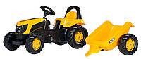 Педальный трактор с прицепом ROLLY TOYS KID JCB желтый