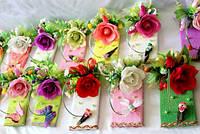 Экономичый подарок-шоколад с цветами