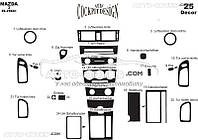Тюнинг панели проборов (торпедо) Mazda 3 2004-2008 из 25 элем
