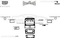 Тюнинг панели проборов (торпедо) Тойота Авенсис 2003-2008 (наклейки)