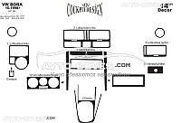 Декор панели проборов VolksWagen Bora из 14 элем