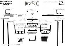 Декор на торпеду VolksWagen Jetta 2006-2011 из 17 элем