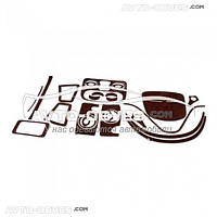 Декоративные накладки на панель приборов Fiat Doblo 2001-2012, 13 элем