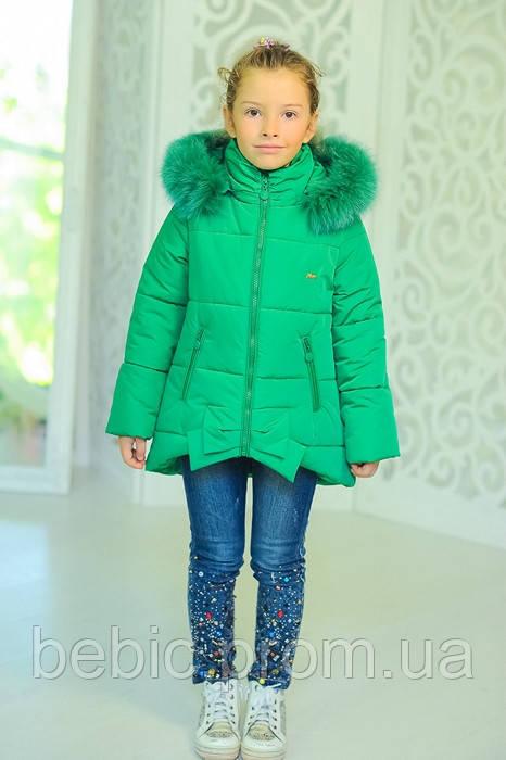 Куртка «Бант», зеленый Рост:122-152см