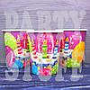 Бумажные стаканчики Happy Birthday фиолетовый, 10 шт