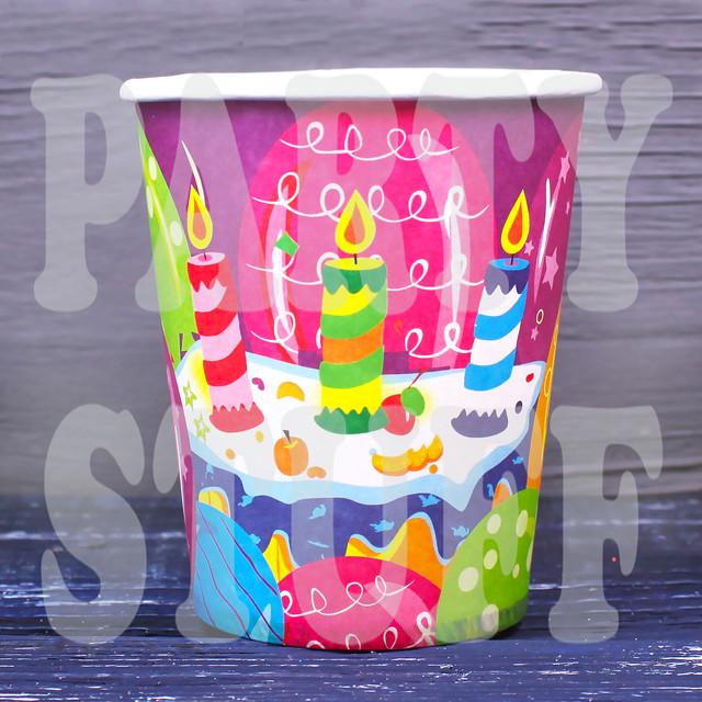 стаканчики одноразовые на день рождения