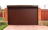 Автоматические гаражные ворота роллета 77 ламелия