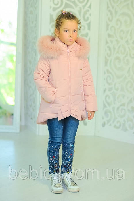 Куртка «Бант», розовый Рост:122-152см