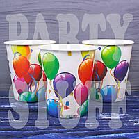 Картонный стаканчик детский с шариками, 10 шт, фото 1