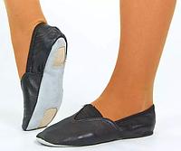 Чешки черные MATSA, ZEL MA-0057-39 (р.39, верх-кожа, подошва-замш, PVC)