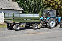 Тракторный самосвальный прицеп 2ТСП-8 трехсторонняя выгрузка, 6 т.