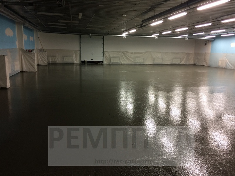 Устройство бетонных промышленных полов с упрочненным верхним слоем (топпинг Cerecit CF-56)  и использование фибра бетона (добавление... 2