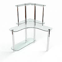 """Компьютерный стол из стекла """"Диона"""" БЦ-стол"""