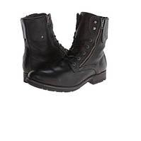Черные  кожаные ботинки GBX