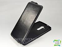 Откидной чехол из натуральной кожи для LG H818 G4 Dual