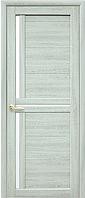 Дверное полотно Тринити ясень патина со стеклом сатин
