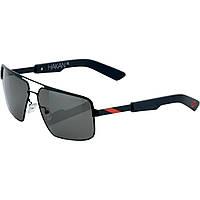 """Спортивные очки 100% """"HAKAN"""" Sunglasses Matte Black/Red - Grey Tint"""