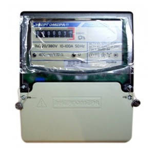 Электросчетчик трехфазный однотарифный ЦЭ 6804-U/1 220В (10-100А) 3ф 4пр МР32, Энергомера (Харьков), фото 2
