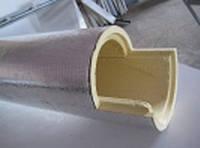 Теплоизоляционная скорлупа из пенополиуретана, с фольгированным пергамином, D 18мм, толщина слоя изоляции 30 м
