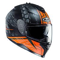 Шлем HJC IS17 Enver MC6HSF черно-оранжевый, L